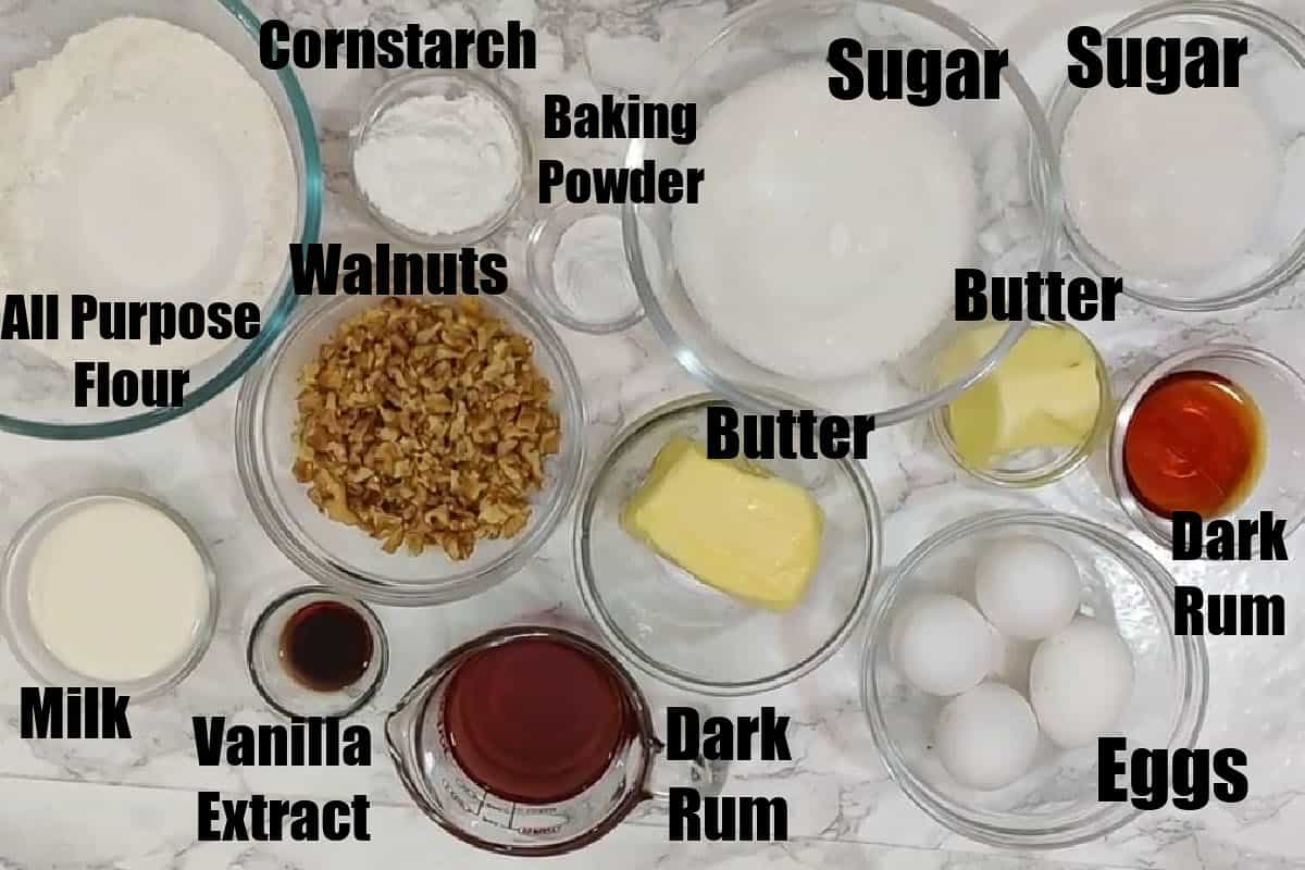 Bacardi Rum Cake Ingredients.