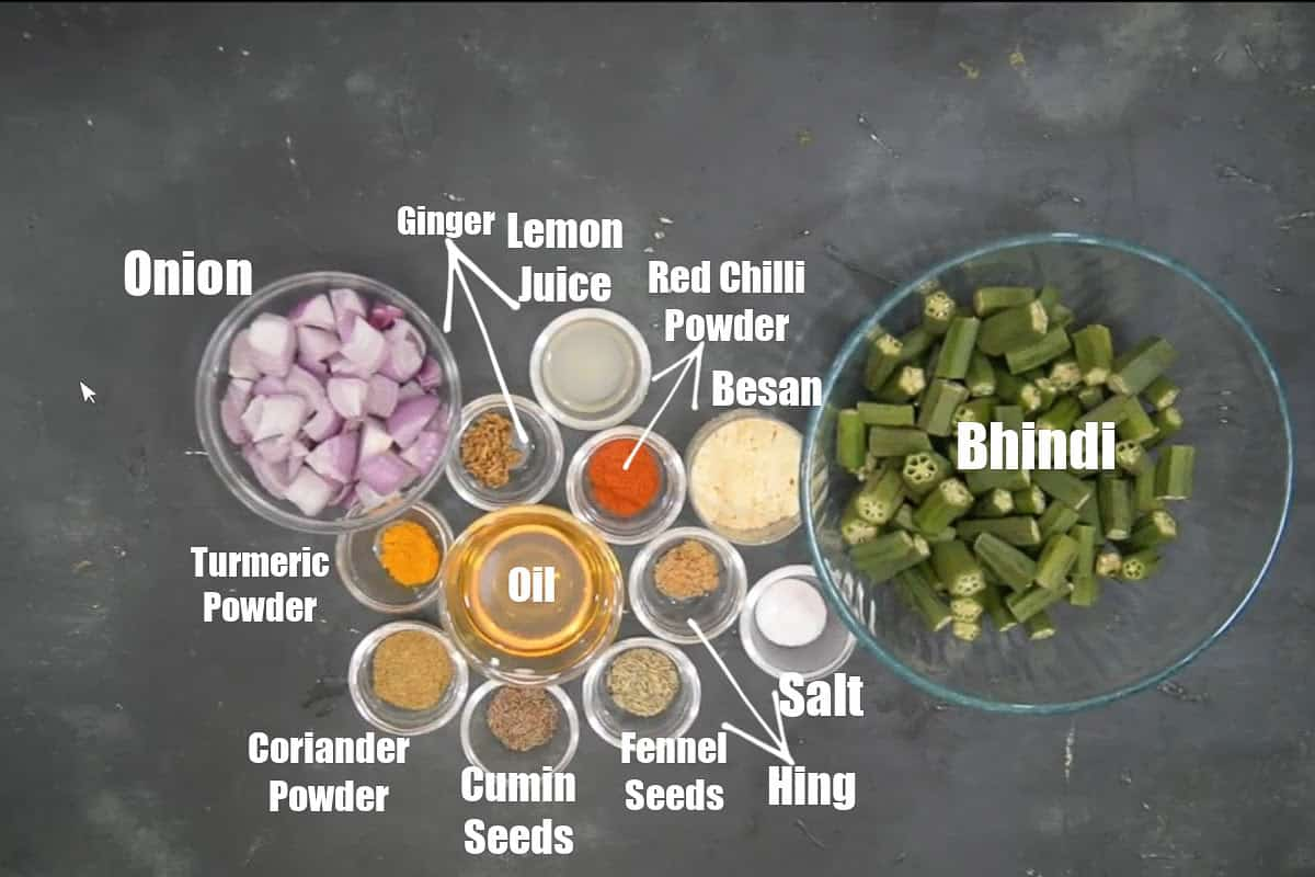Besan Bhindi Ingredients.
