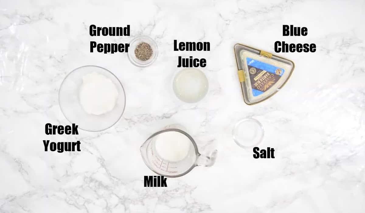 Blue Cheese Salad Dressing Ingredients.