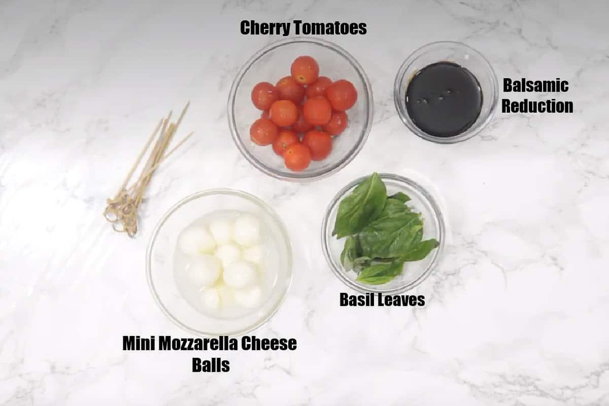 Caprese Skewers Ingredients.