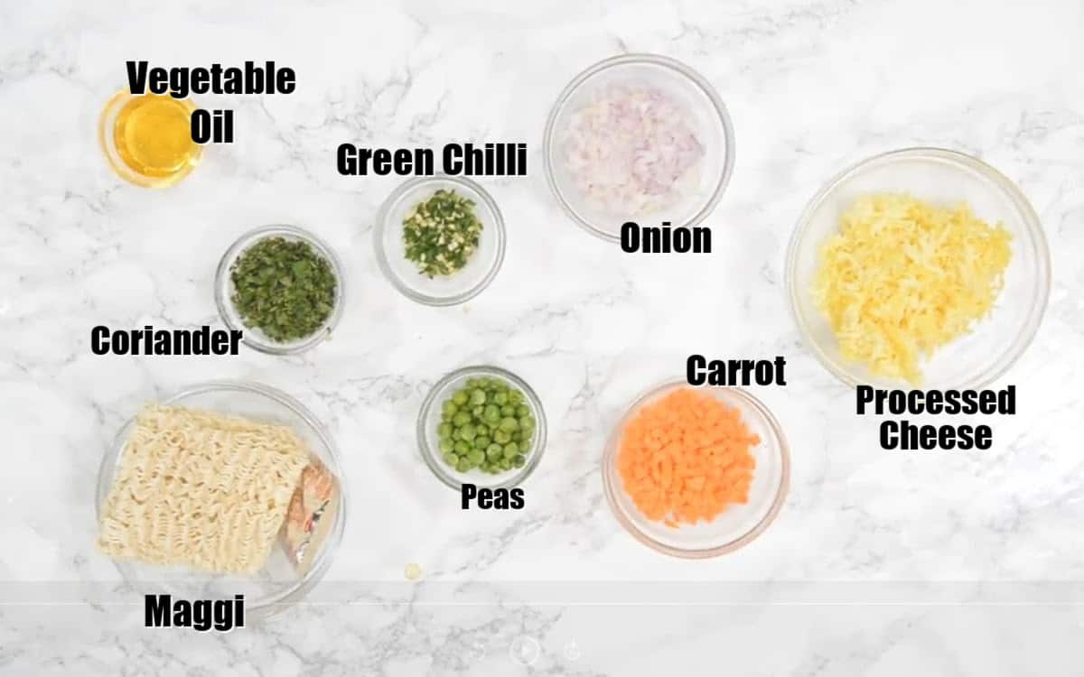 Cheese Maggi Ingredients.