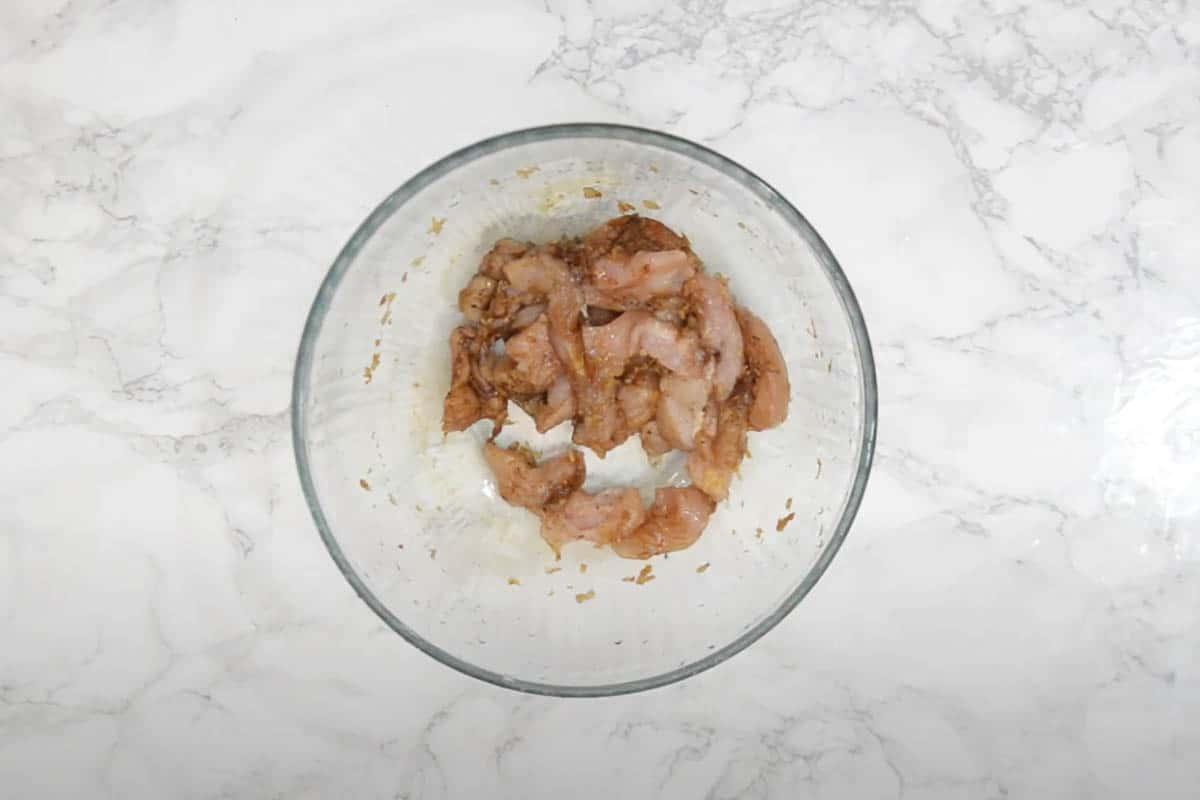 Marinated chicken.
