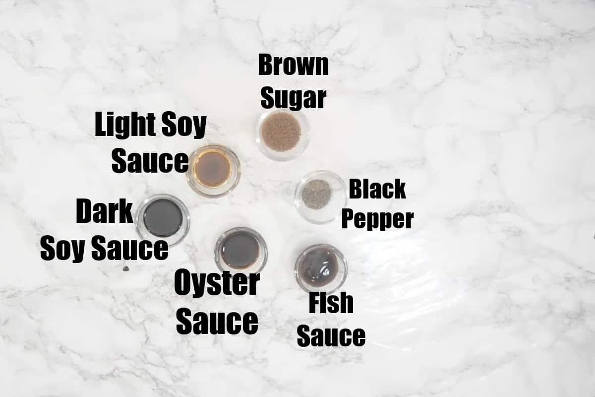 Drunken Noodles Sauce Ingredients.