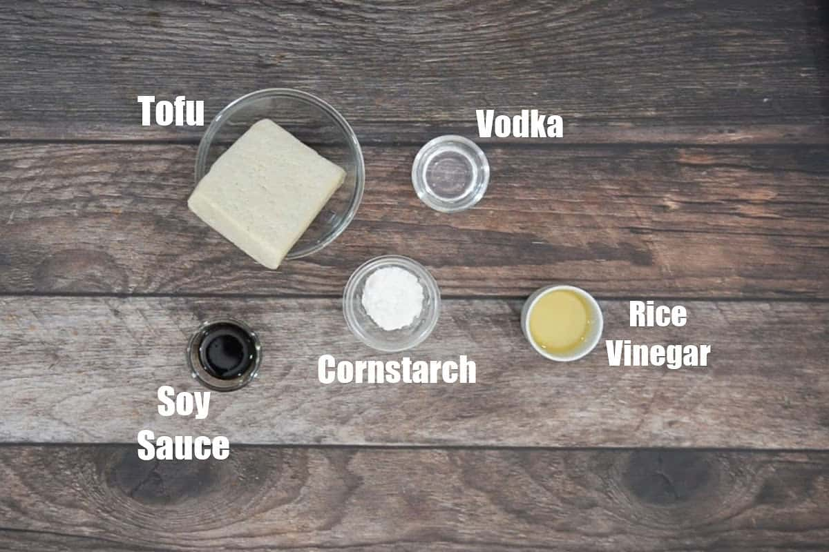 General Tso's Tofu Ingredients 1