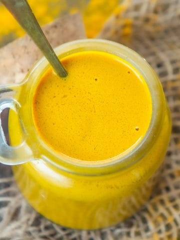 This 10 minute Golden Paste will make sure your nourishing and comforting golden turmeric milk is just a minute away. Make a big batch of this anti-inflammatory Indian ayurvedic paste using my simple recipe.