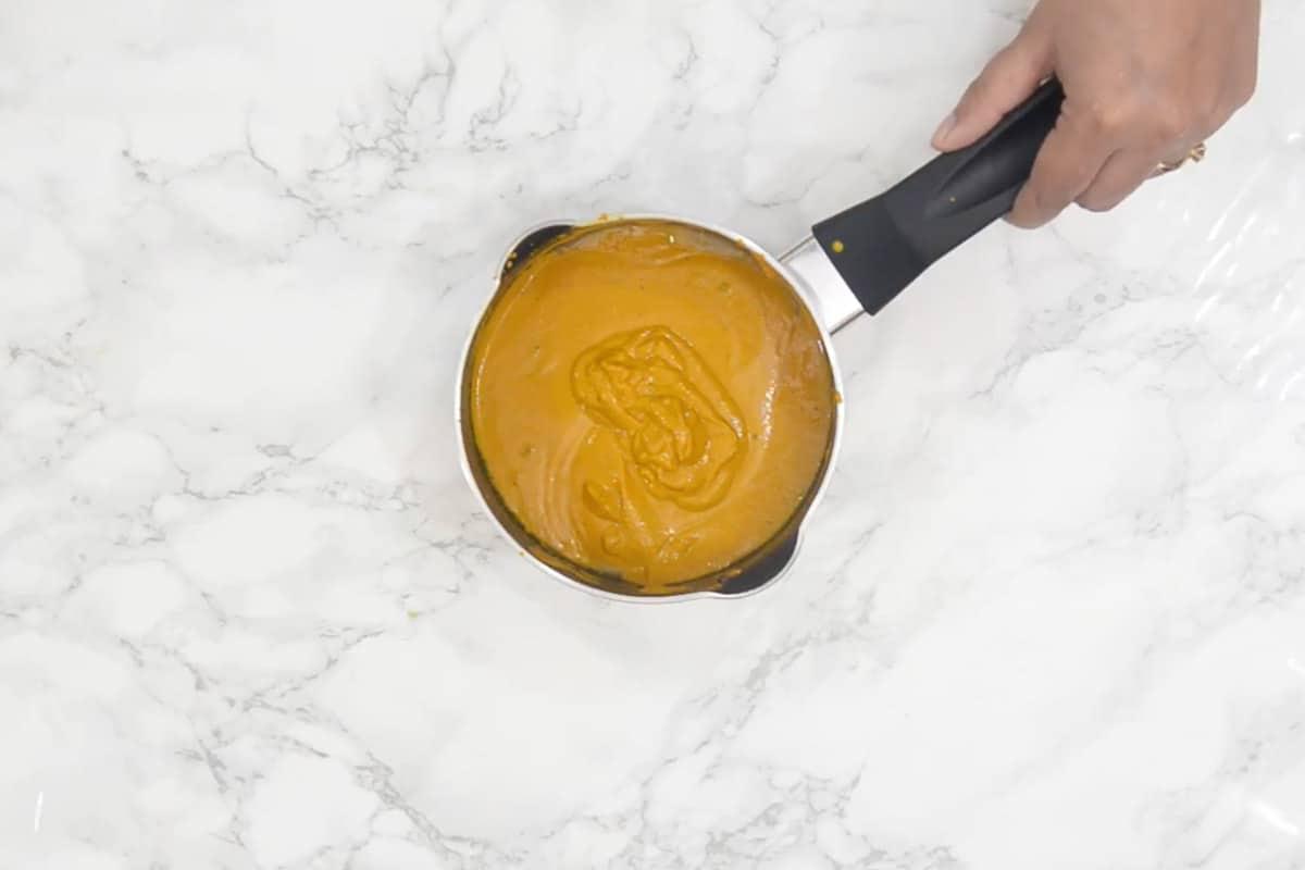 Ready golden paste.