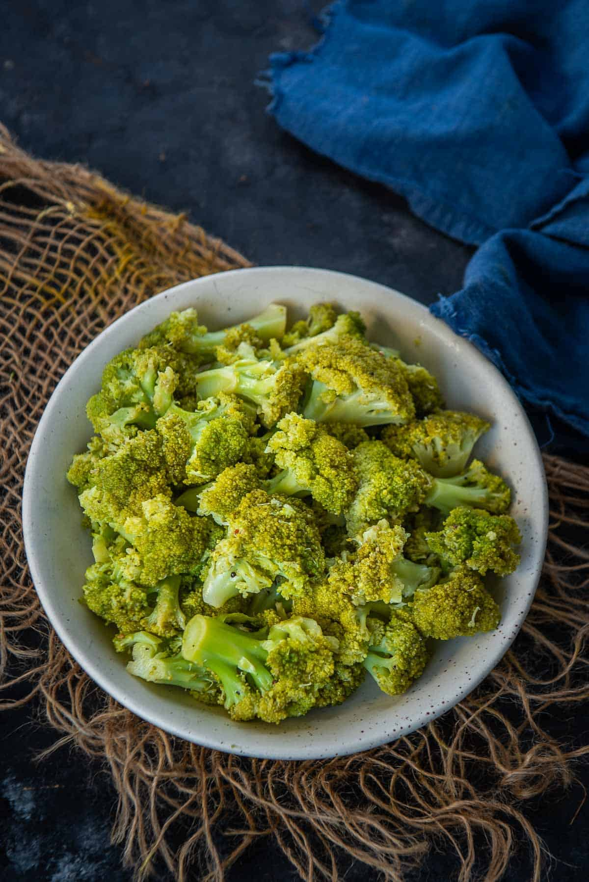 Instant Pot Broccoli served in a bowl.