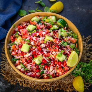 Made using freshly chopped veggies, Kachumber is a fresh, crunchy Indian salad that doesn't need any cooking and can be rustled up whenever hunger strikes. Pair it with any Indian meal for a taste lift! Here is how to make it.