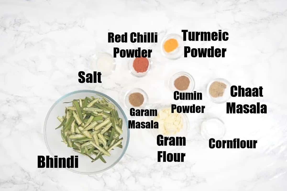 Kurkuri Bhindi Ingredients.