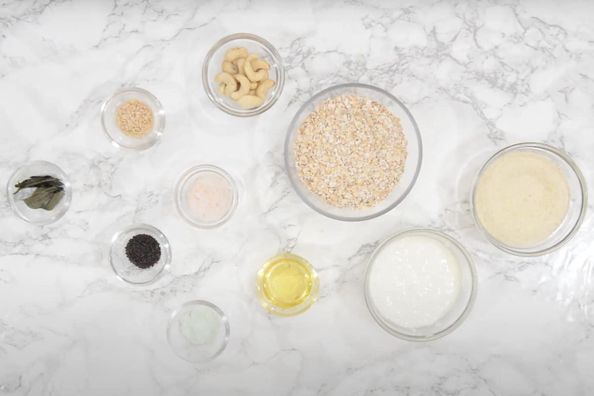 Oats Idli Ingredients.