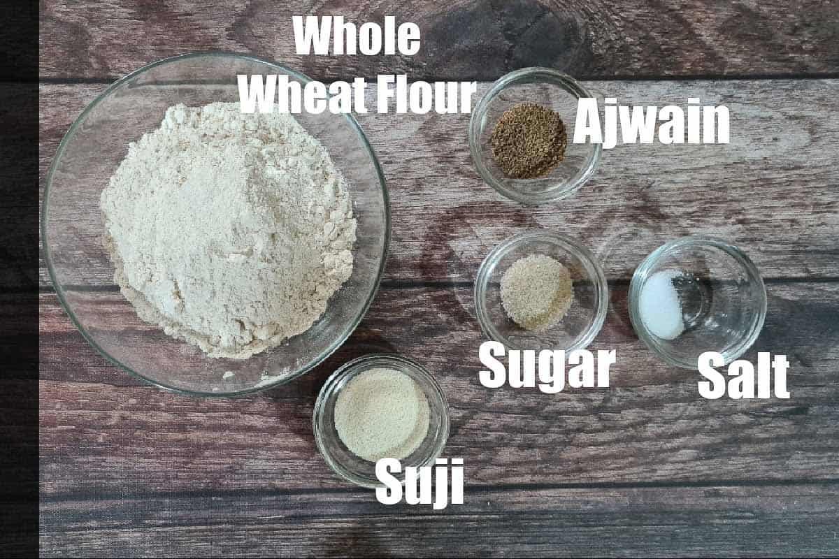 Poori ingredients.