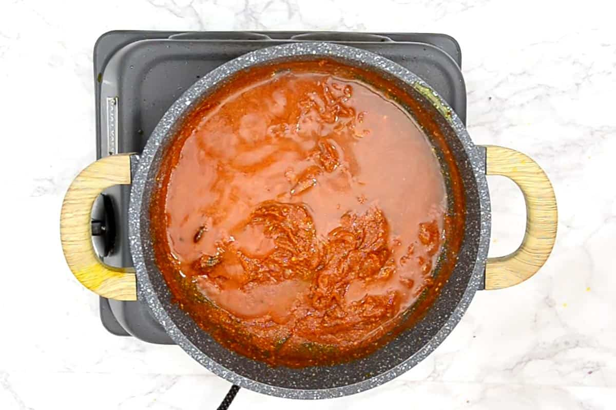 Cooked gravy