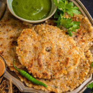 Sabudana Thalipeeth (Sago Thalipeeth) is a crispy flatbread made using tapioca pearls or sabudana. It is a Maharashtrian dish and made for vrat (Hindu fasting days). Here is how to make it.