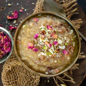 Sooji Halwa is a traditional Indian dessert made using semolina, ghee, and sugar. Make this semolina pudding using my simple and easy recipe.