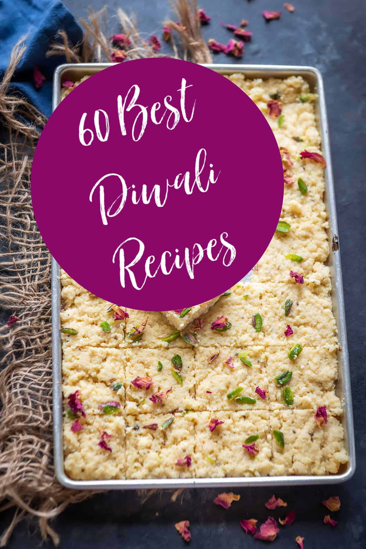 A sweet with message of best Diwali recipes
