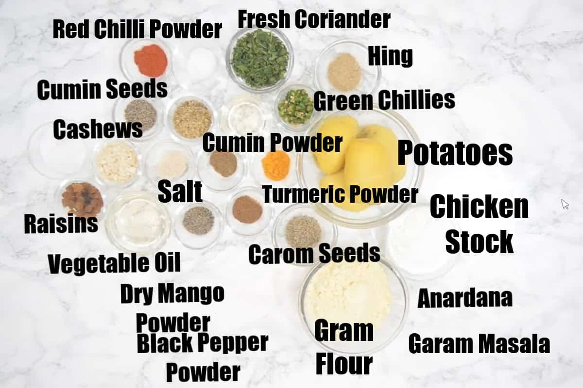 Aloo Bonda Ingredients.