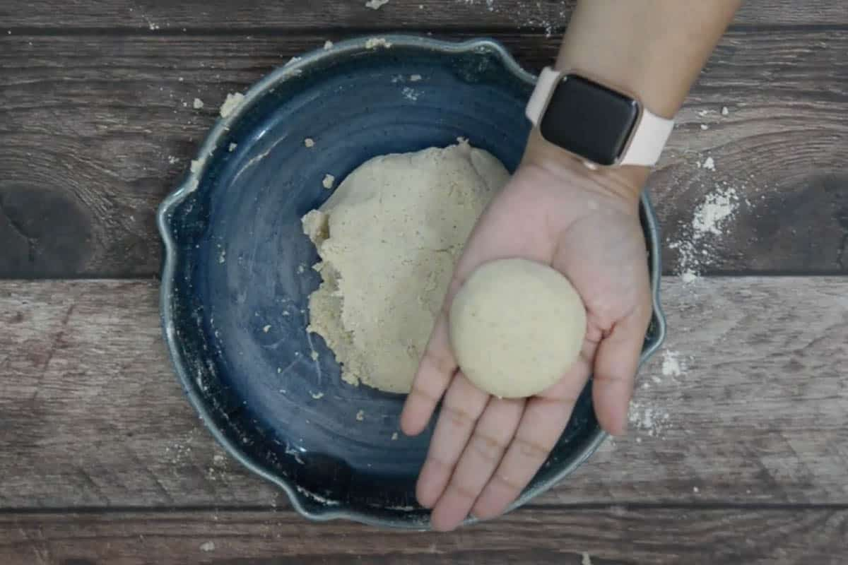 Small ball made from the flour.