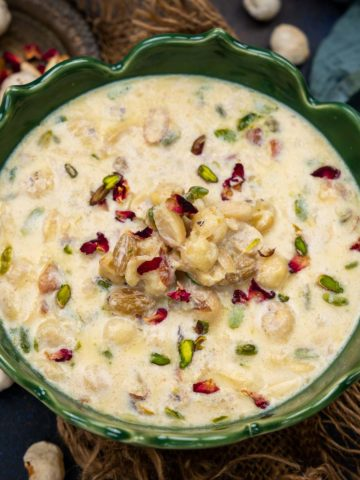 Makhana Kheer (Makhane ki Kheer) is a creamy Indian pudding made using fox nuts, milk, sugar, and dry fruits. It is a delicious dessert which can be served on any occasion especially for vrat or fasting days. Here is how to make it.