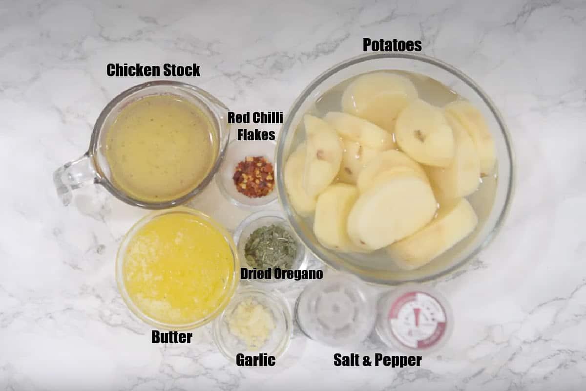Melting Potatoes Ingredients.