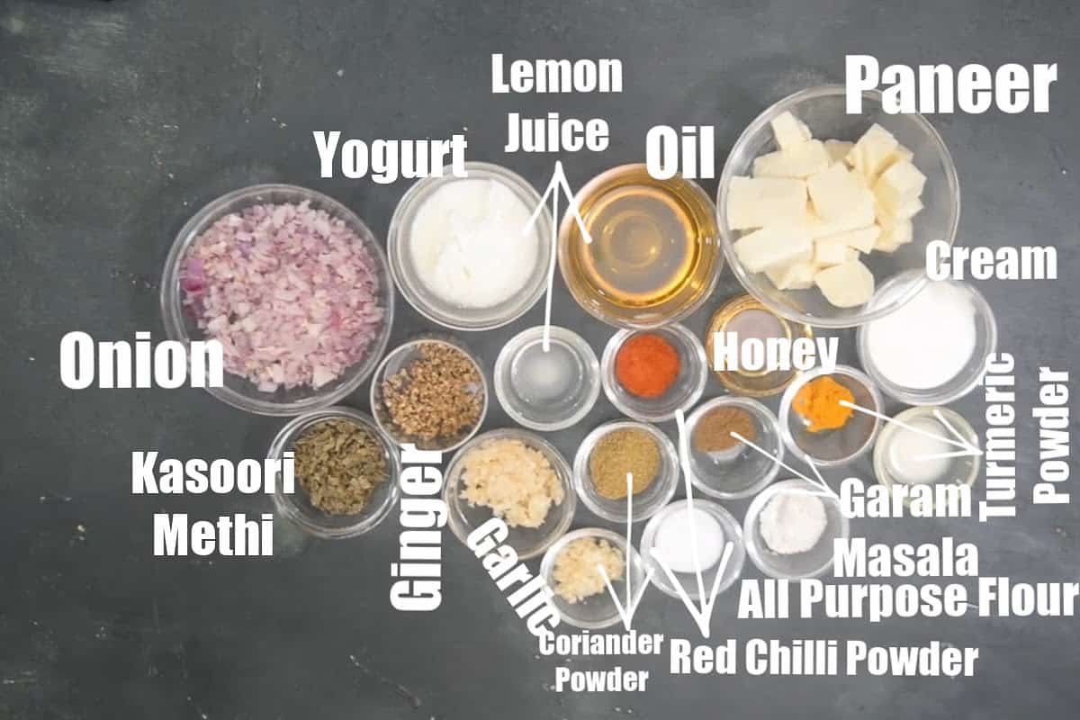 Methi Malai Paneer Ingredients.