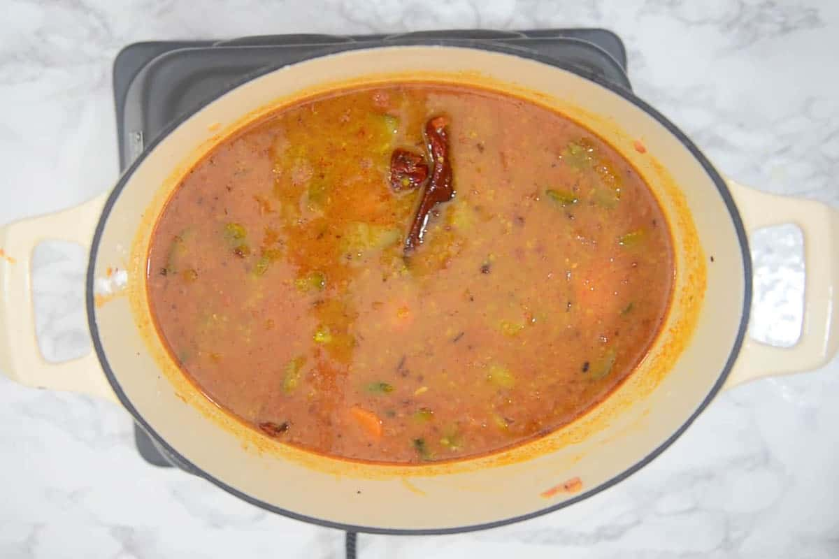 Ready sambar.
