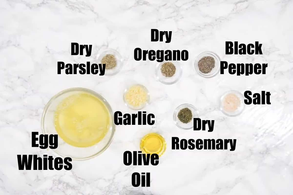 Scrambled Egg White Ingredients.
