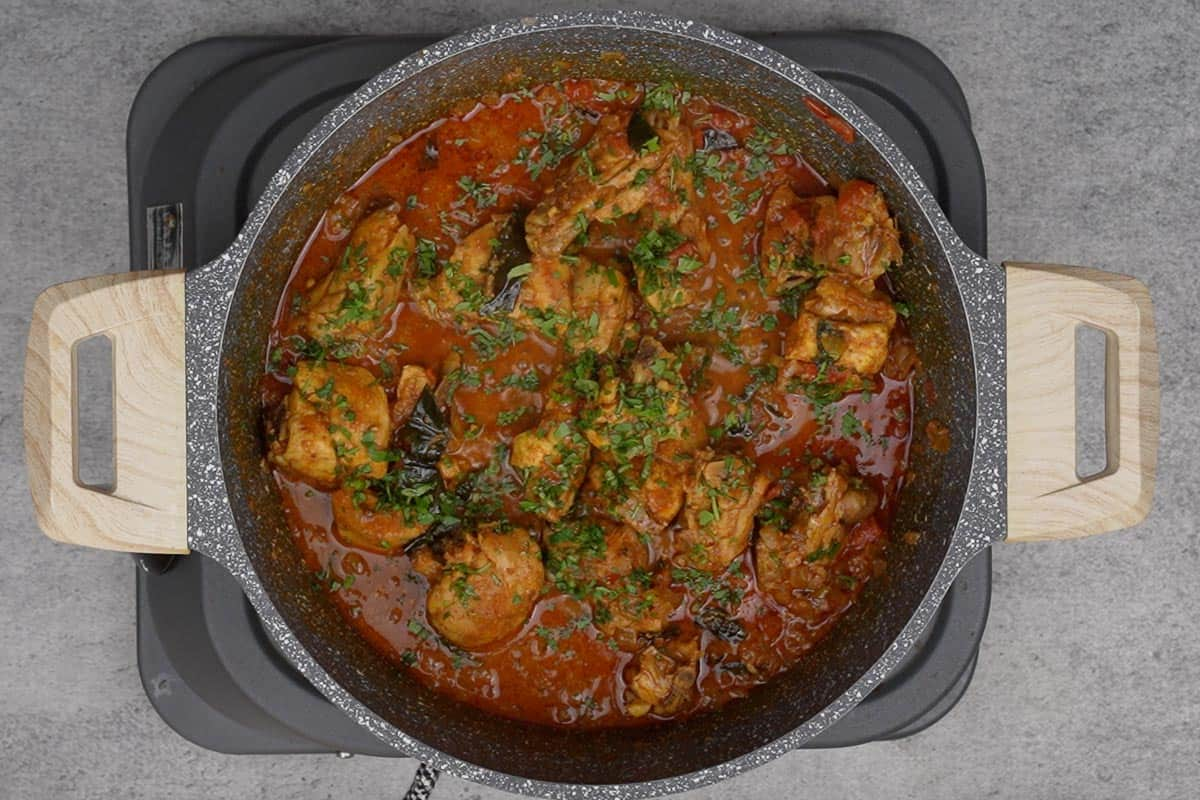 Ready Andhra chicken curry.
