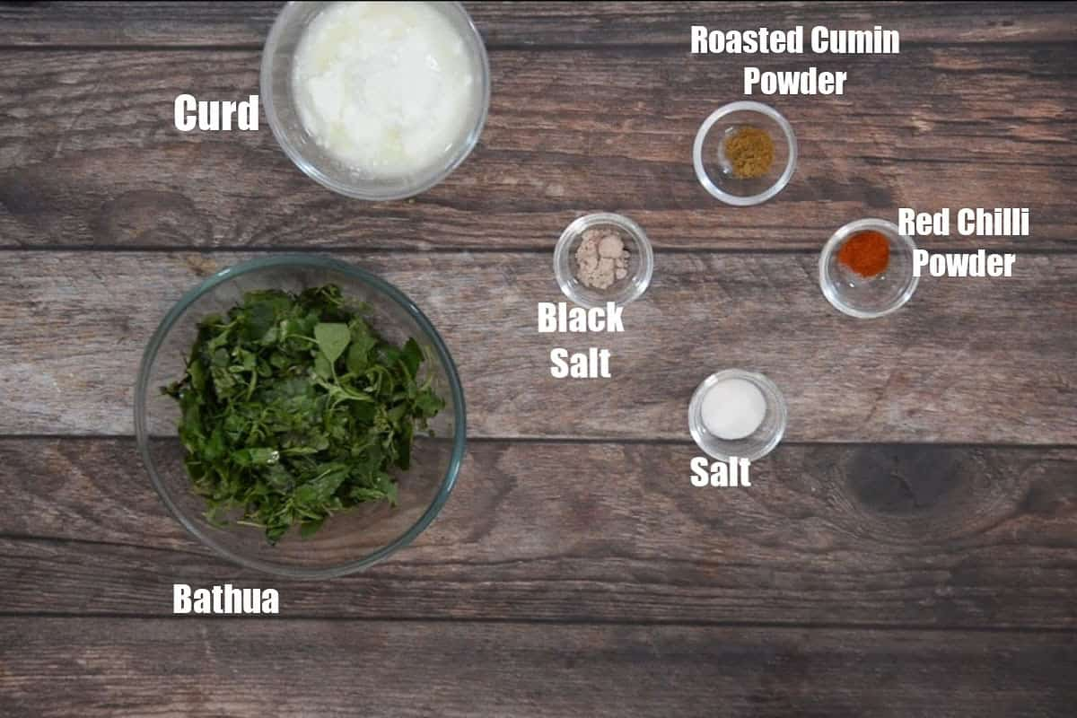 Bathua ka Raita Ingredients.