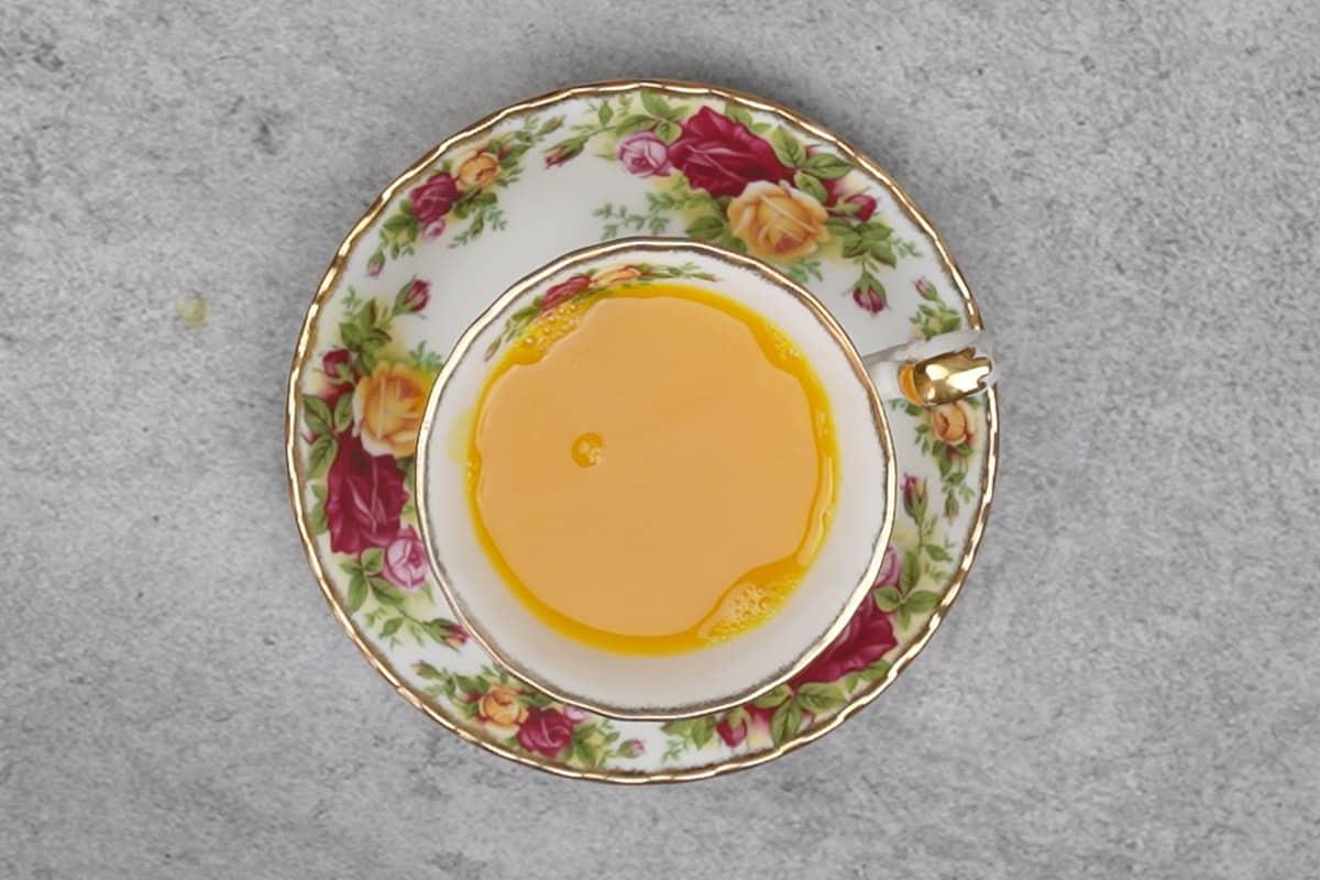 Ready ginger turmeric tea.