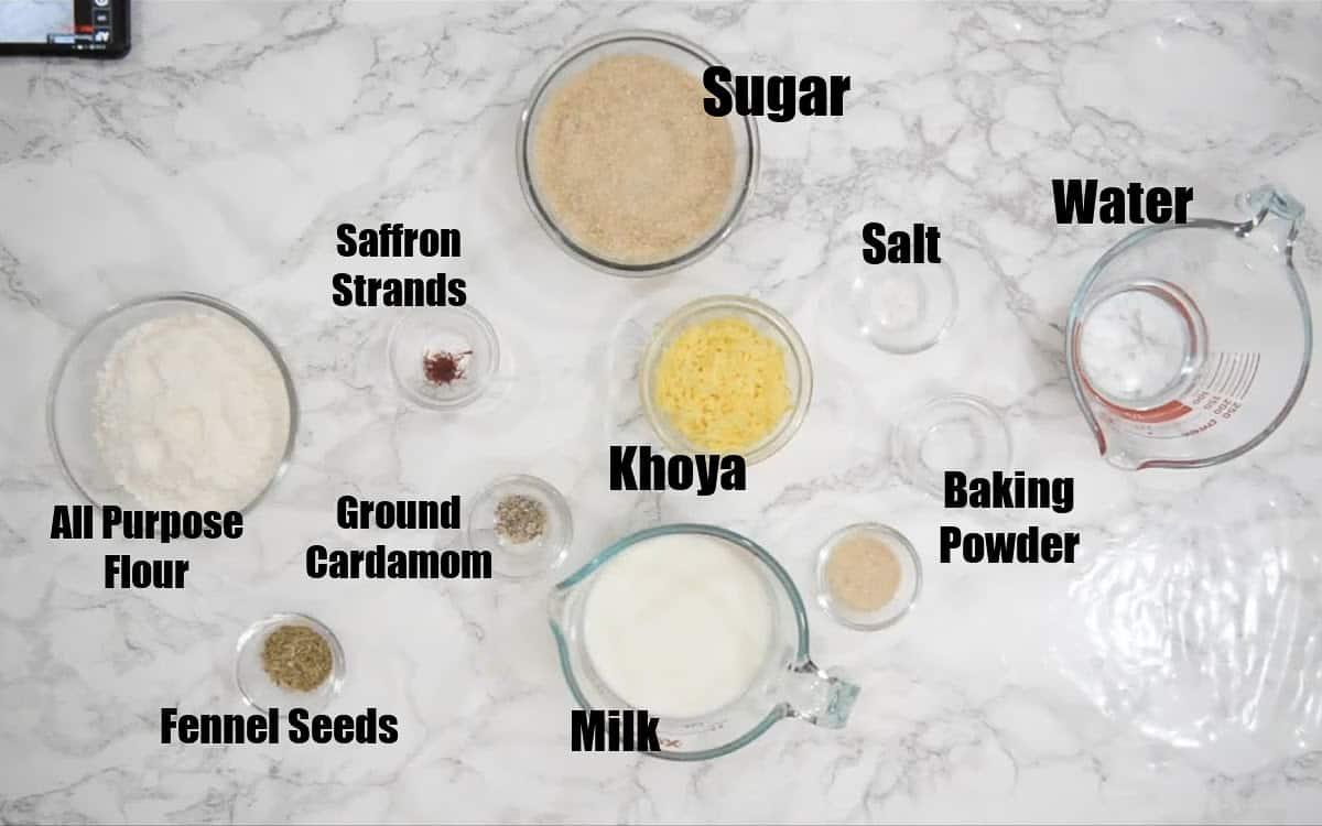 Malpua Ingredients.