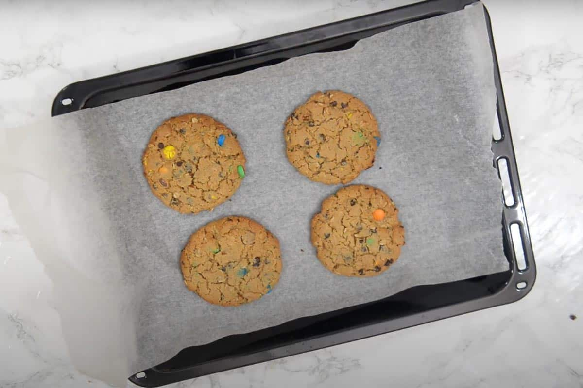 Ready monster cookies.