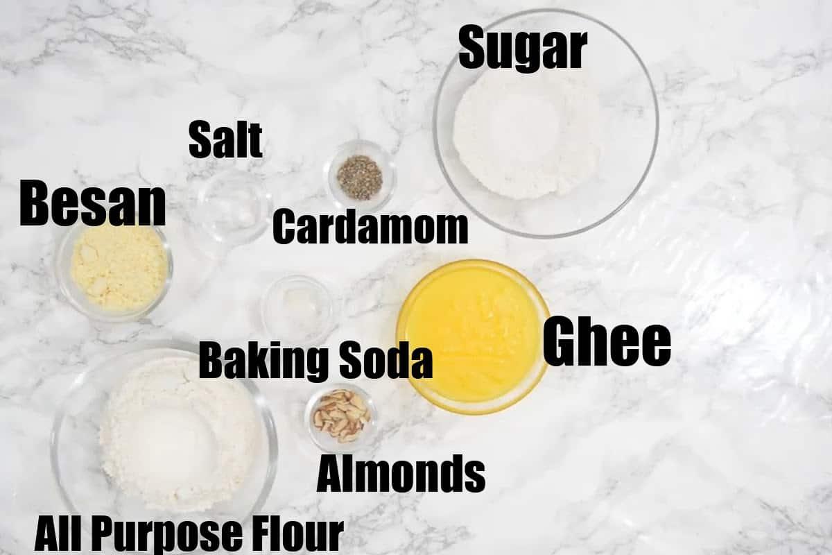 Nankhatai Ingredients.