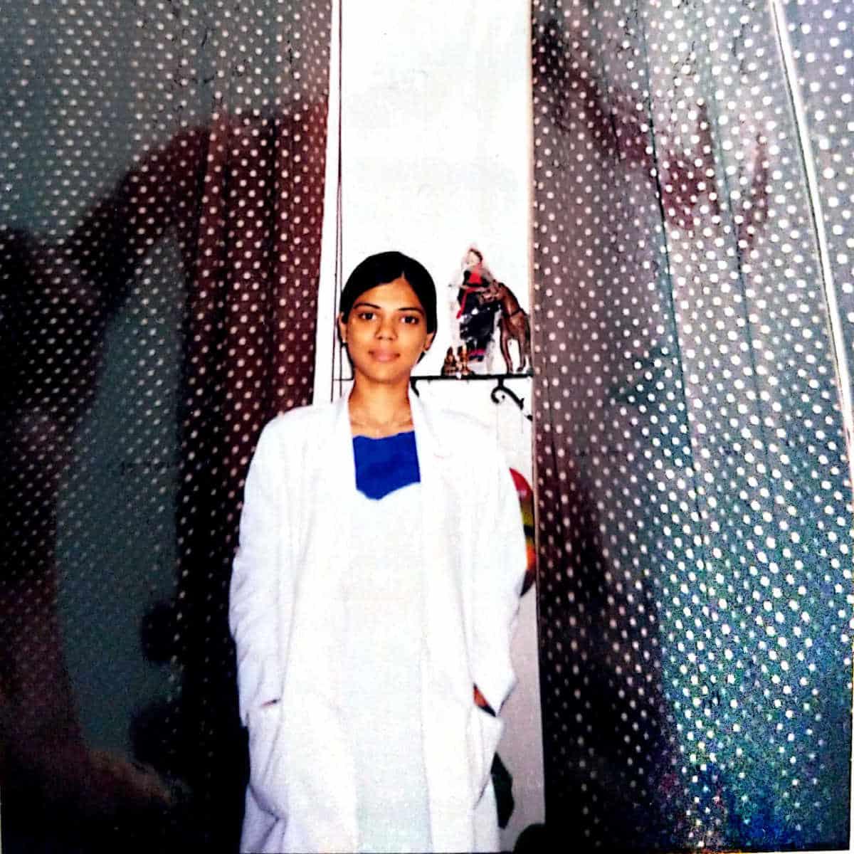 Neha Mathur in Dentist Uniform