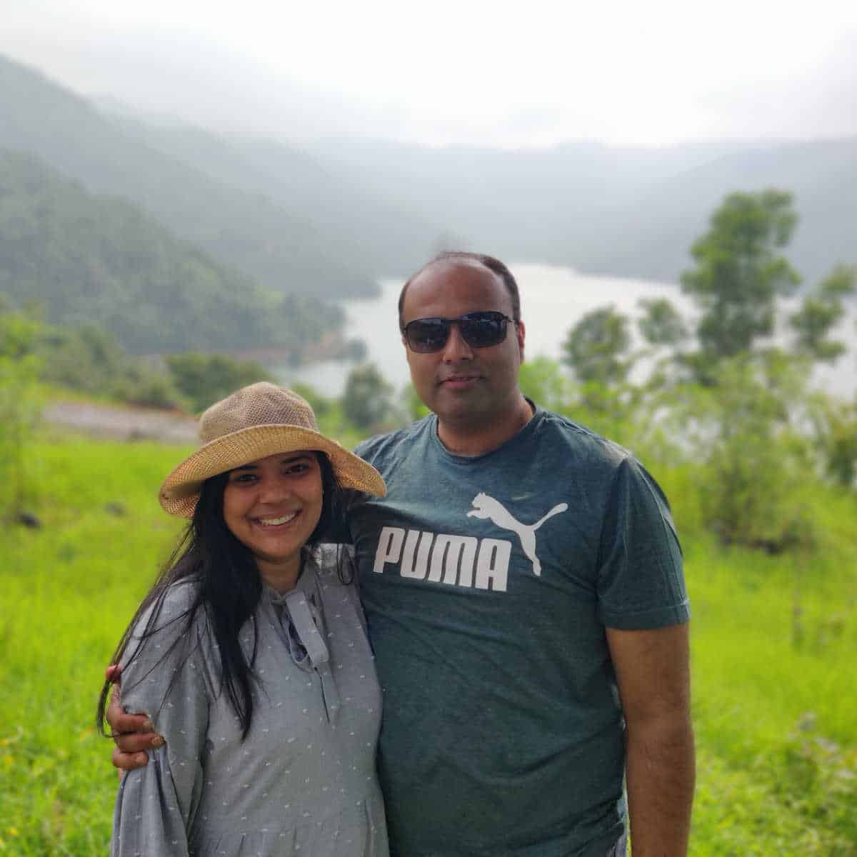Neha with her husband Mohit