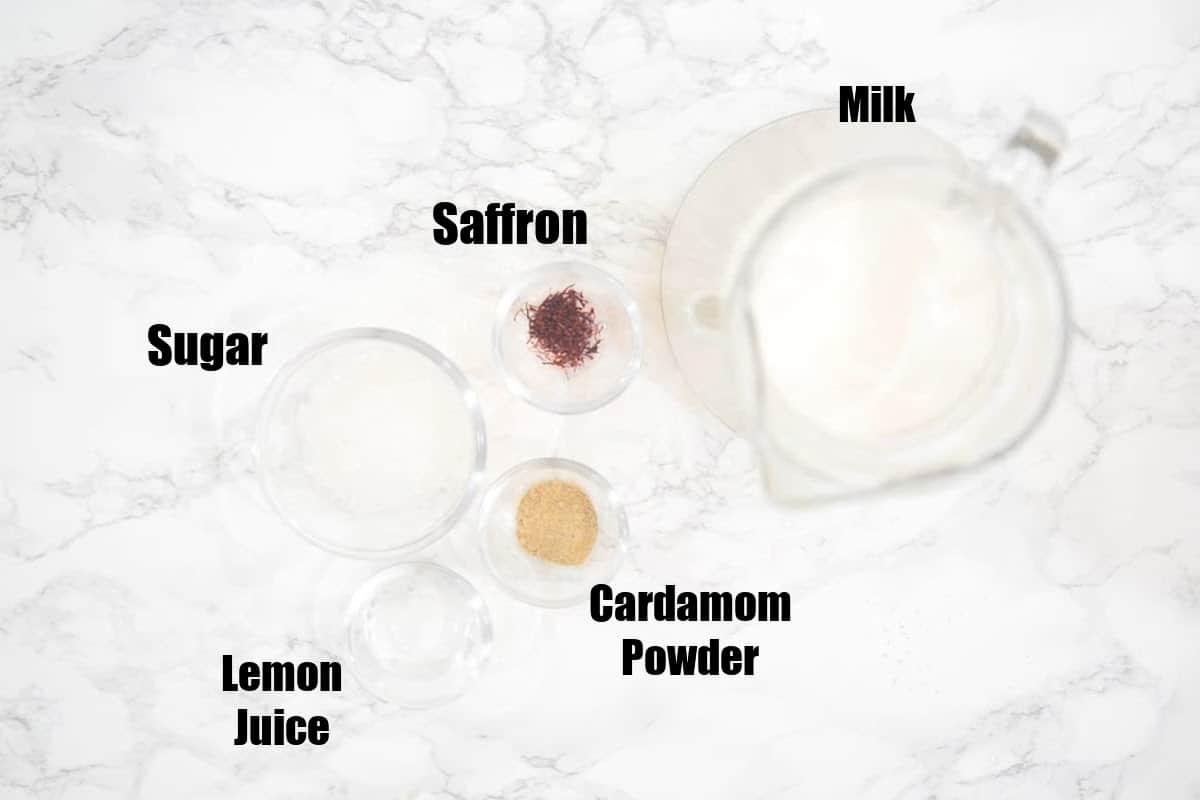 Paneer Kheer Ingredients.