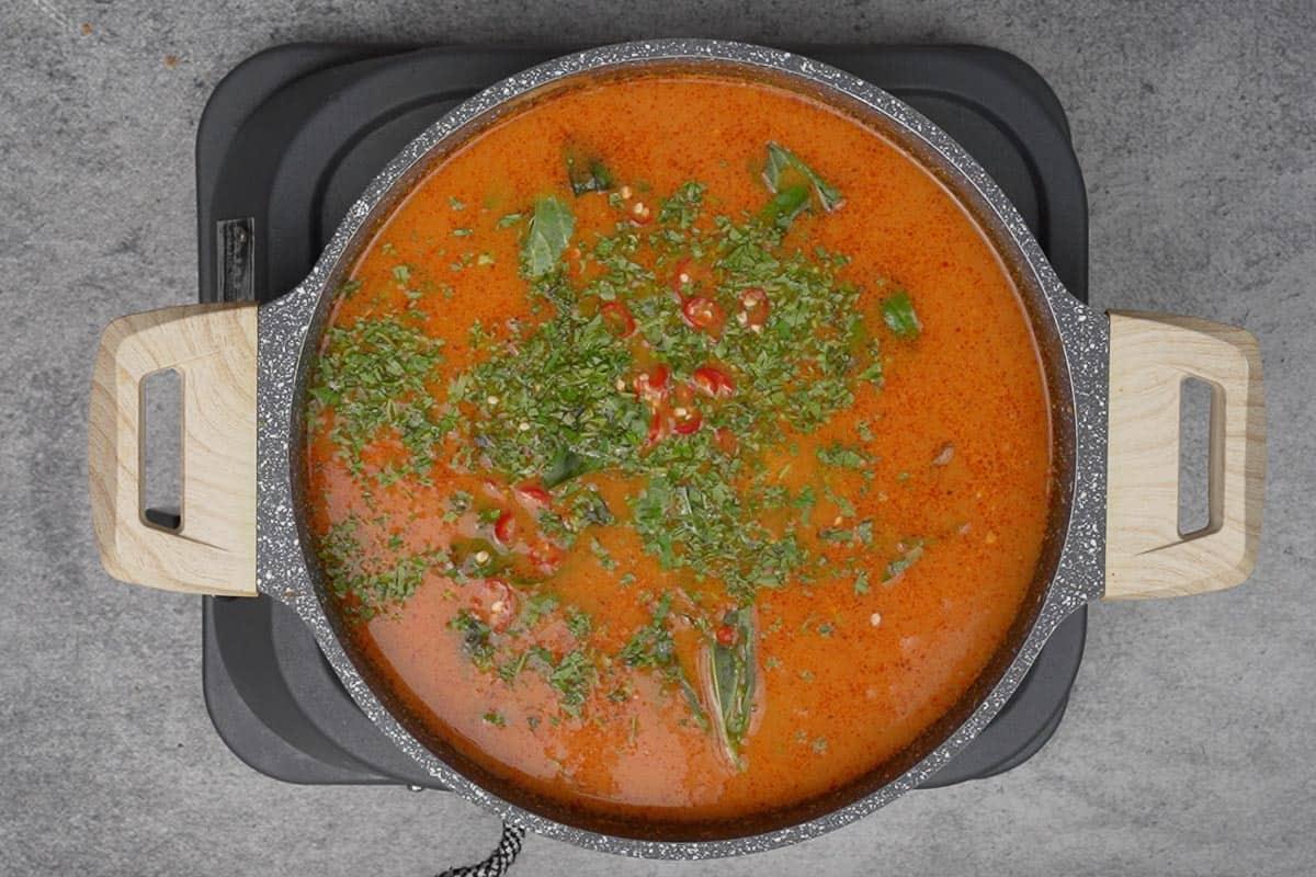 Ready Thai pumpkin curry.
