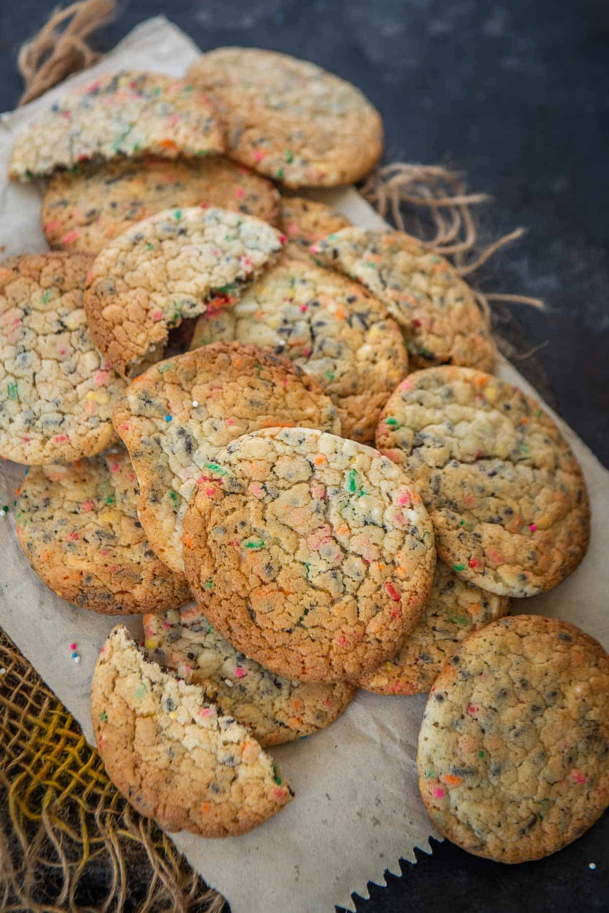 Cake Mix Cookies served on a plate.