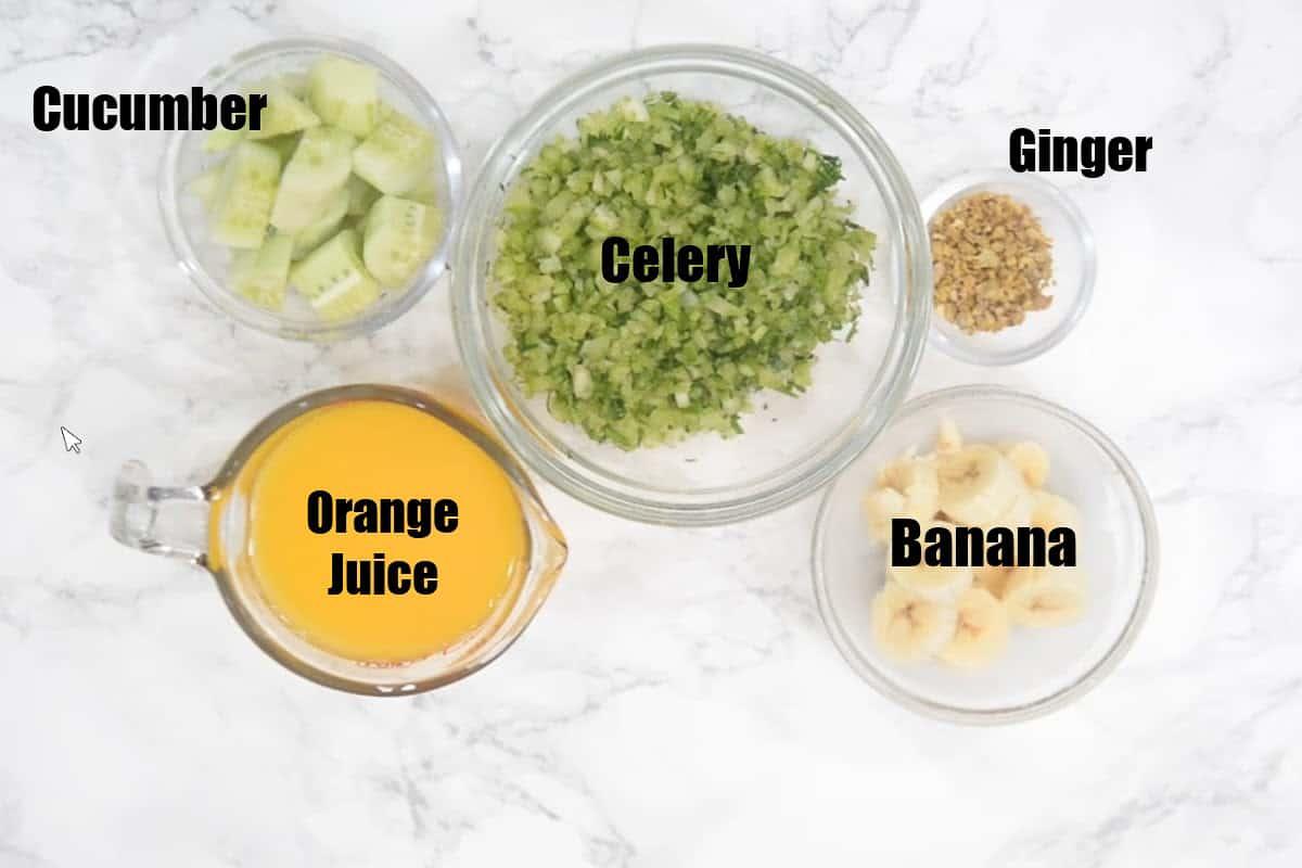 Celery Smoothie Ingredients.