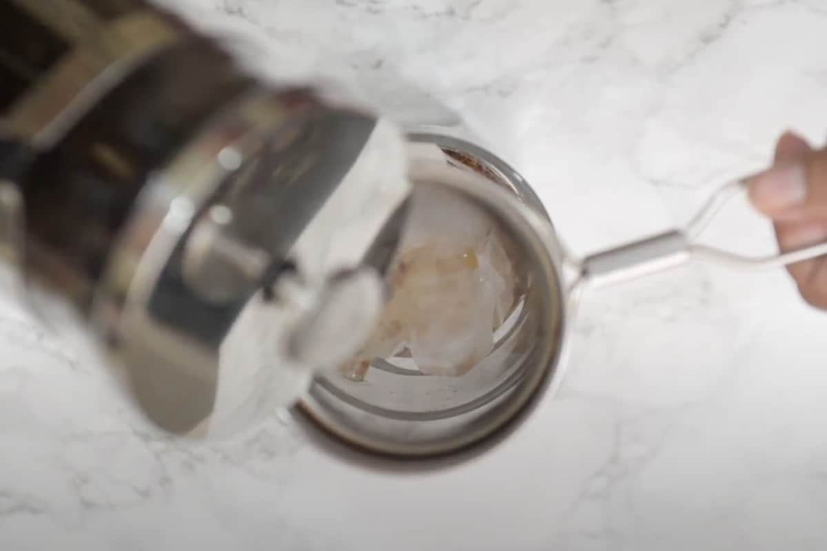 Cold brew concentrate poured over ice.