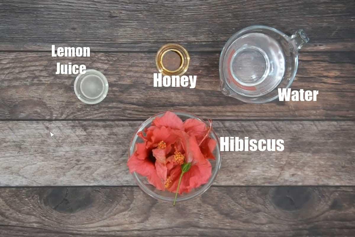 Hibiscus Tea Ingredients.