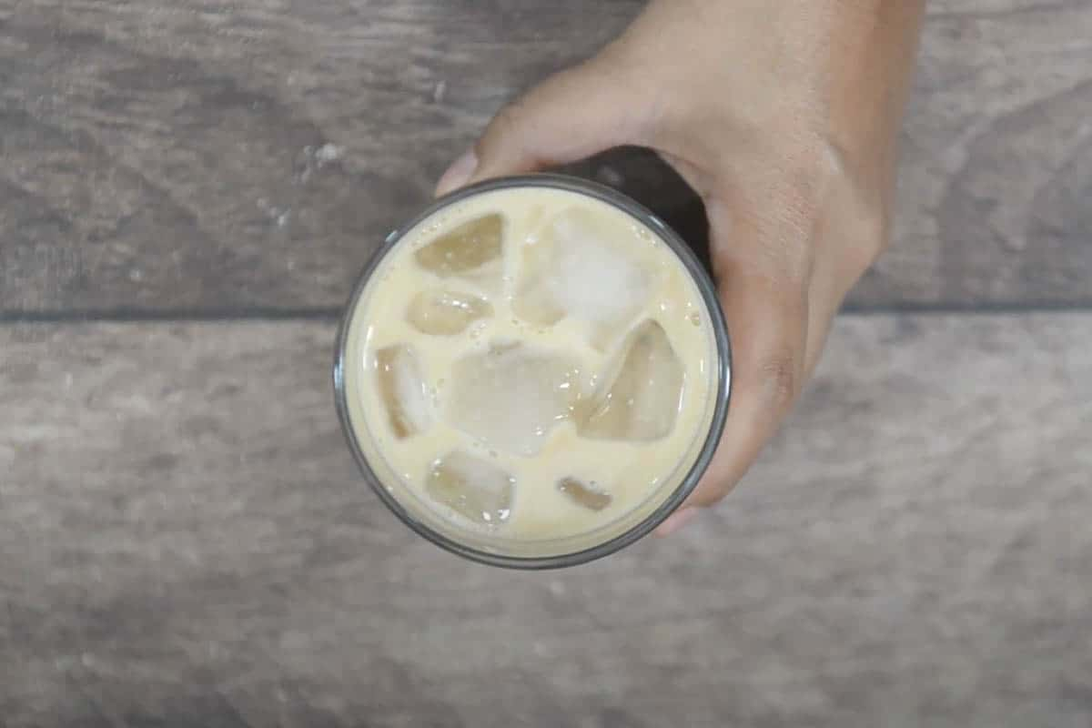 Ready iced vanilla latte.