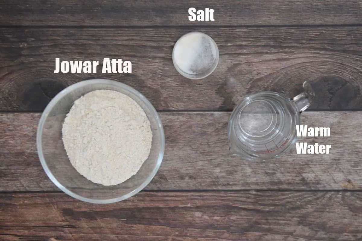 Jowar Bhakri Ingredients.