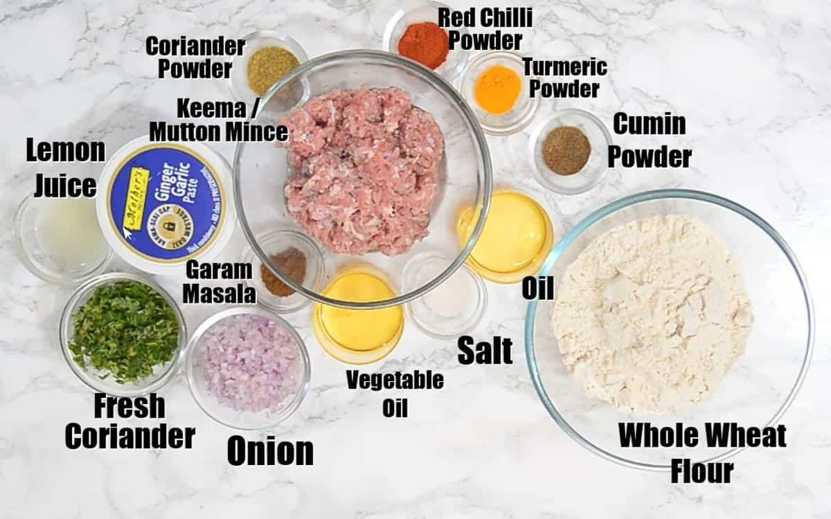 Keema Paratha Ingredients.