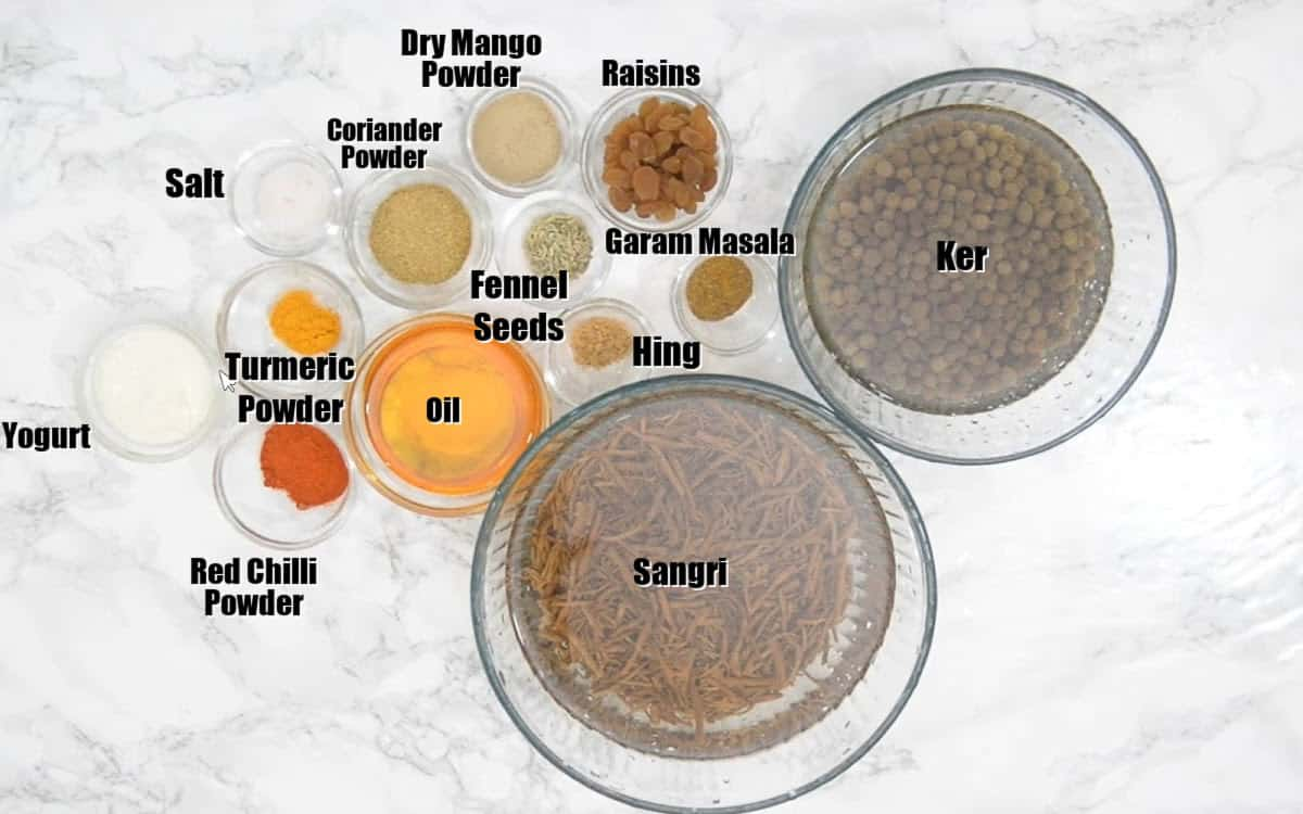 Ker Sangri Ingredients.