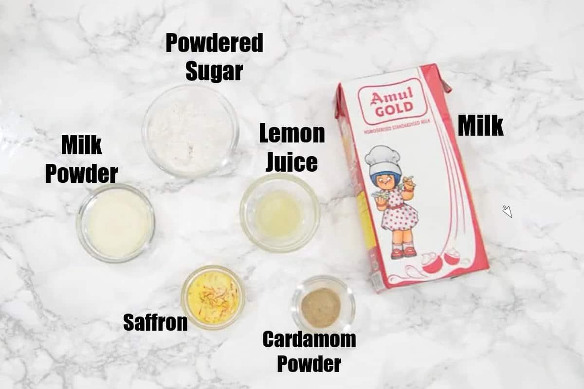 Sandesh Ingredients