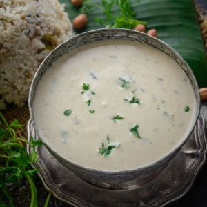 Shengdana Amti (Peanut Amti) is a gluten-free curry made using peanuts as the base. It is made especially for vrat (Hindi fasting) in Maharashtra. Here is how to make it.