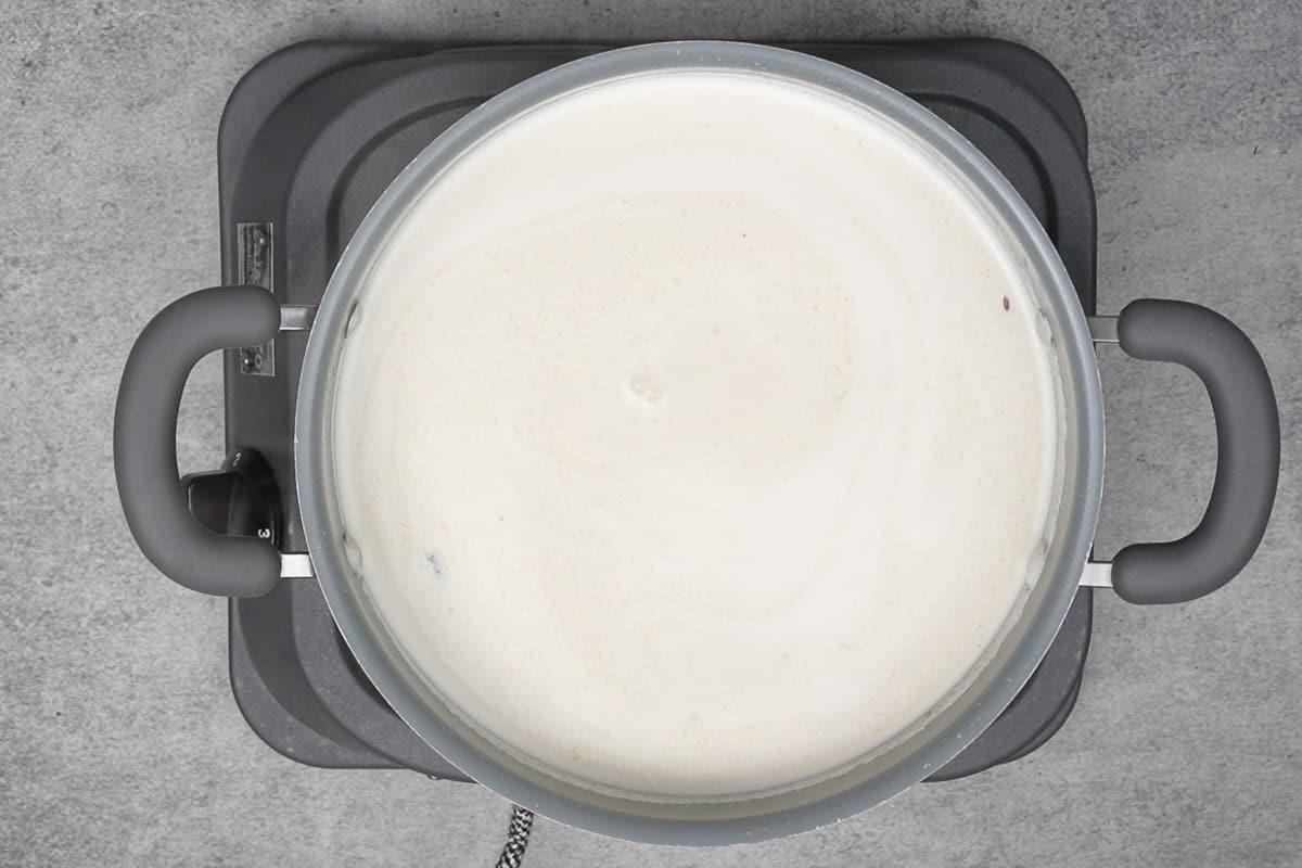 salt added to the pan.