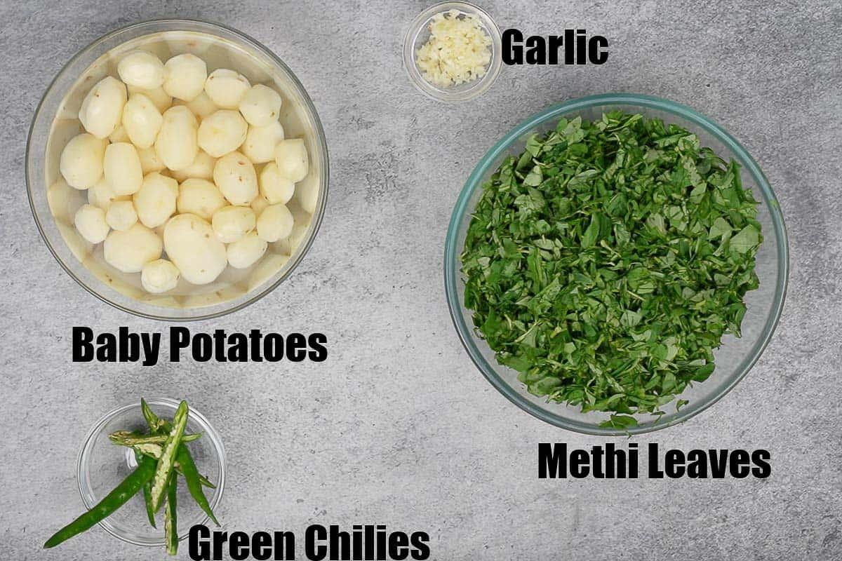 Aloo Methi Ingredients 1