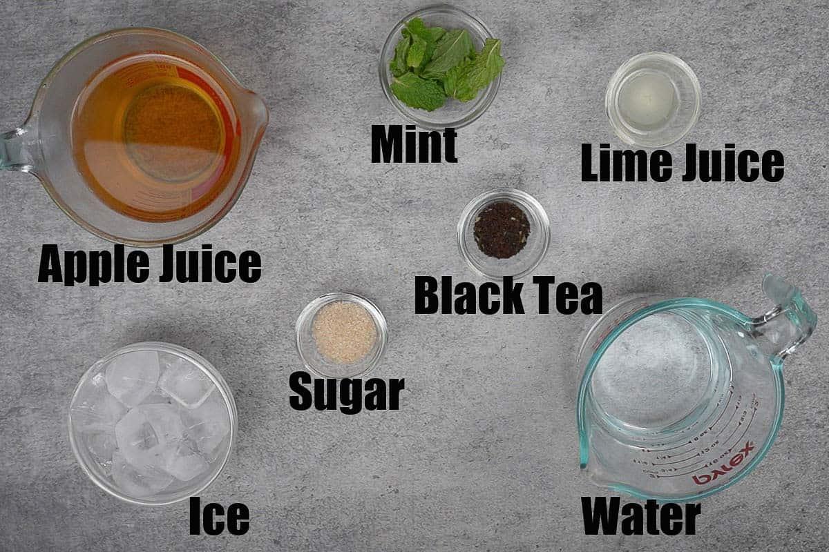 Apple iced tea ingredients.