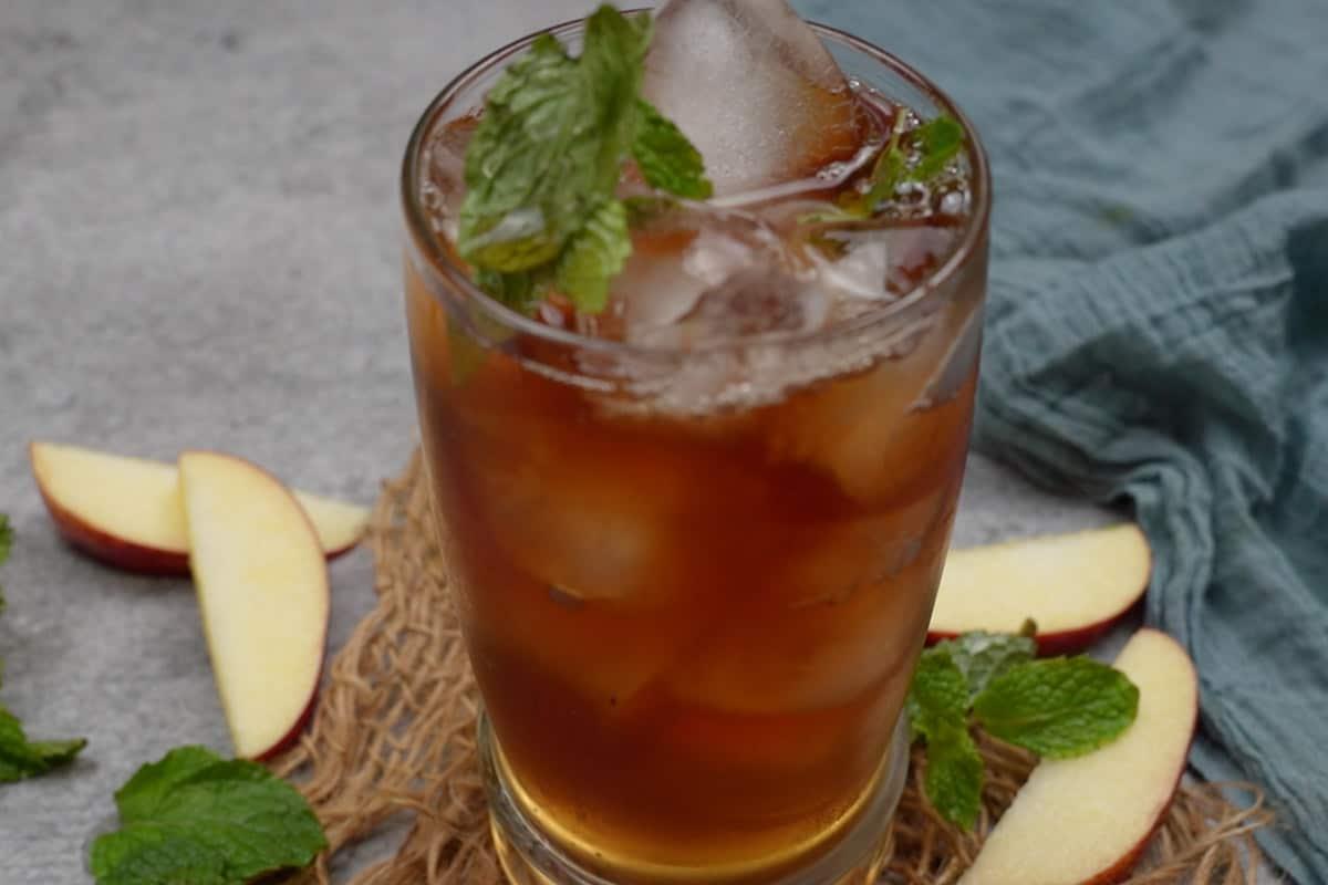 Ready apple iced tea.